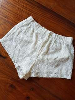 Forever21 White Dress Shorts