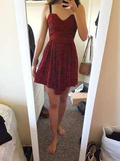 Lonely hearts red dress size 6