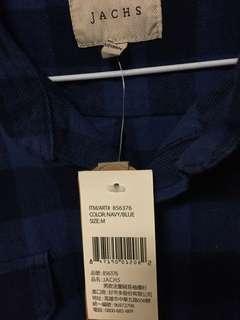 🚚 格紋襯衫 藍黑