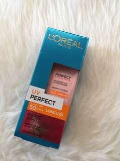 Loreal perfect instant white spf 50++
