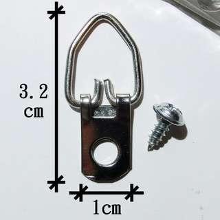 10個畫架相架D-ring吊環掛鉤 連12粒螺絲