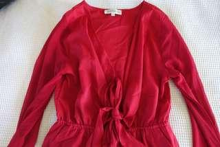 Red Showpo Playsuit