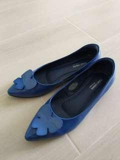 女返工鞋,出街鞋 淺藍色 日本鞋