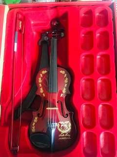 Hello Kitty 小提琴擺設
