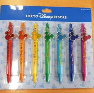 Tokyo Disneyland Pen Set With Mickey Mouse Charm