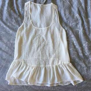 White singlet sleeveless