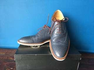 Men's Blue Brogue Shoes
