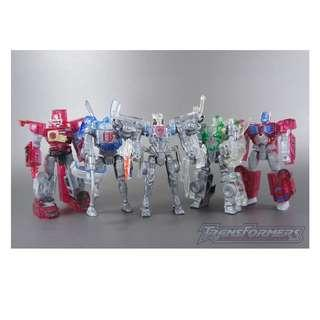 RARE Transformers 2000 TF2000 Kabaya CLEAR Car Robots Super Fire Convoy, Fire Convoy, Car Brothers - MIB C9.5