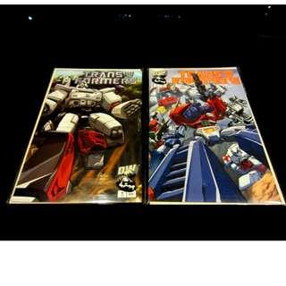 Transformers Dreamwave G1 Comics 2002 First Print Vol 1 Issue 1 - Both Autobots & Decepticons Covers