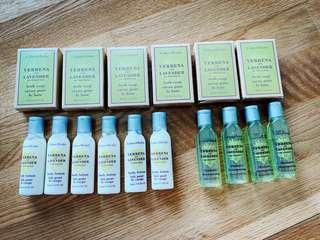 Crabtree & Evelyn Verbena and Lavender products