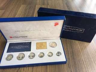 E127 - Singapore 1992 Silver Proof Coin Set