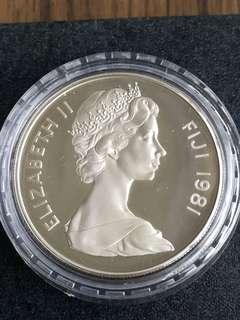 E128 - Fiji 1981 Silver Proof Coin