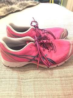 Aasics Women's Runners - pink and navy