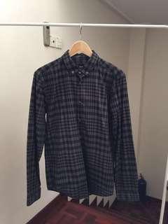 RM799 Hugo Boss Black & Grey Checkered Shirt Black Label