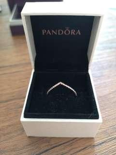 Pandora Rose Gold Ring Size 8