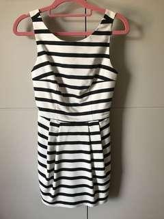 Zara stripe playsuit - size XS