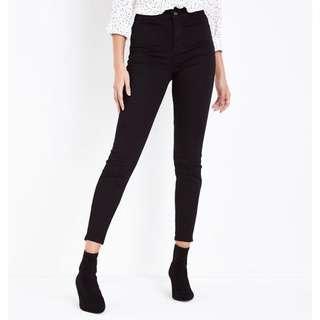 NEWLOOK super skinny high waisted jeans ( hw )