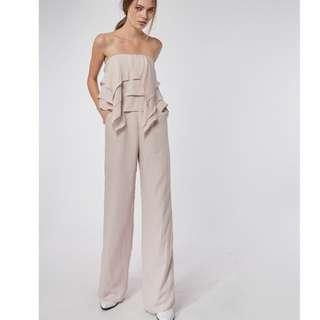 Collate the label layered frills jumpsuit