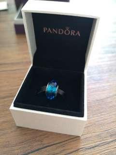 Pandora Blue Crystal Charm