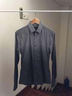 RM599 Arthur Galan Grey Gradient Print Shirt Hugo Boss