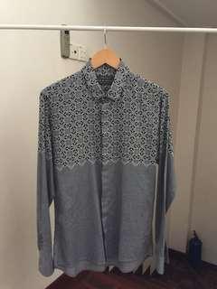 RM699 Arthur Galan Ikat Woven Slim-Fit Shirt Burberry
