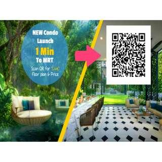 Doorstep to Woodleigh MRT ! Park Colonial Luxury Condo. 50 metres away from future mega mall & bus interchange !
