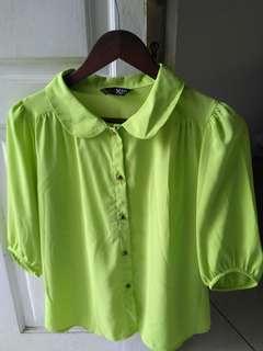 Preloved Blus green lime