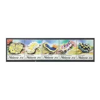 MALAYSIA 1988 MARINE LIFE SG SG 401 - 405 MNH OG