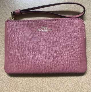 BN Coach leather wristlet