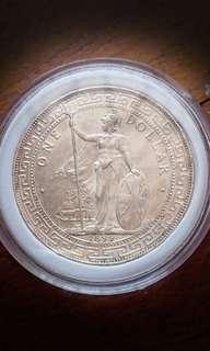 British Trade Large Silver Dollars