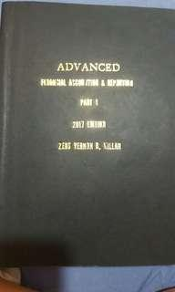 Photocopy of advanced financial accounting and reporting part 1