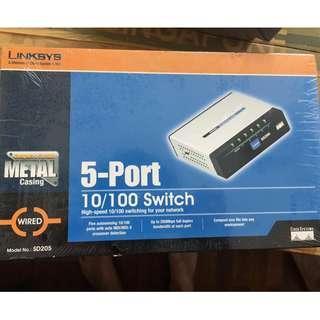 Linksys 5-Port 10/100 Switch [SD205]
