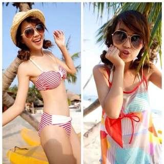 Clearance Sale! Brand New In stock 3 Pieces Bikini + Top Cover