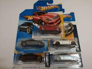 Hotwheels Lot of 5 Infiniti G37 Very Hard To Find