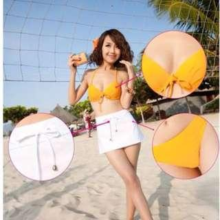 Clearance Sale! Brand New In stock 3pieces Bikini + Outer Skirt
