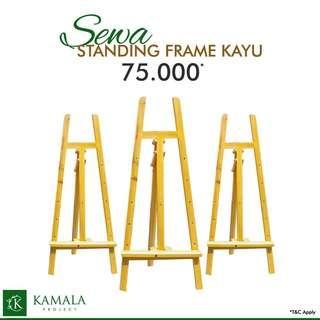 standing frame kayu