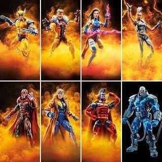 Hasbro Marvel Legends X Men 2018 Wave 3 (Apocalypse BAF) (Set of 8)