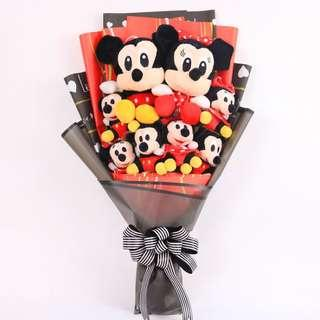 Mickey & Minnie Mouse Plush Bouquet
