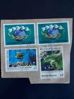 UNSTM. United Nations stamps.