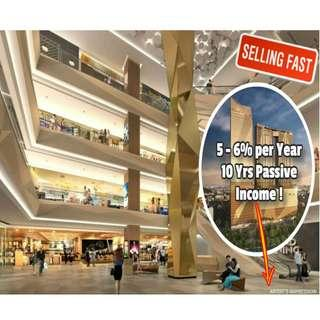 FREEHOLD Retail in Cambodia managed by Capitaland with Shangri-La Hotel. 5 - 6% Guarantee Rental per Year. 10 Years Passive Income
