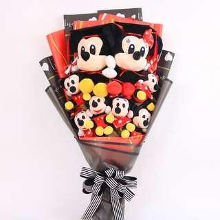 Graduation Mickey & Minnie Mouse Plush Bouquet