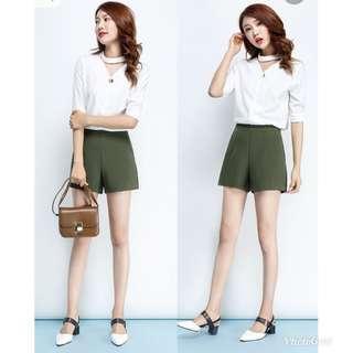 BNWT Khaki Green Shorts