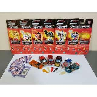 Transformers RID Clear Spychanger Spy Changer Crosswise Mirage Hot Shot W.A.R.S. Ironhide R.E.V. 100% Complete