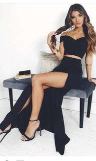 Formal/Social black dress two piece
