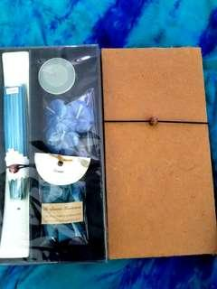 Ocean scented candles and incense set from Thailand