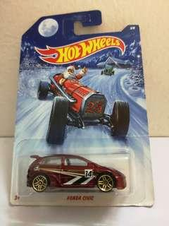 Hot Wheels Honda Civic Christmas Card
