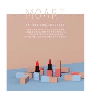 🚚 韓國 MOART~天鵝絨霧色玫瑰唇膏3.5g積木唇膏 口紅 唇膏