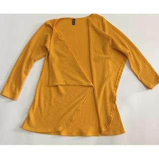 #OCT10 Dark Yellow Cardigan