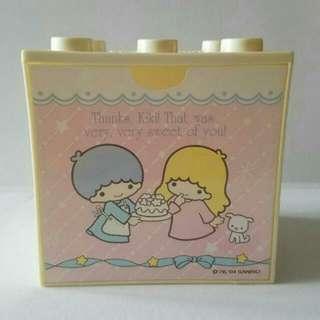 2004 Sanrio Little twin stars 膠櫃筒仔