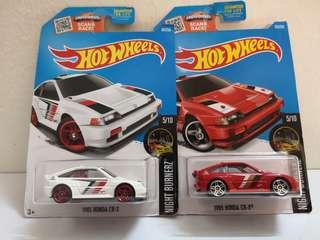 Hot Wheels Honda CRX lot of 2